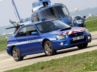 Les Subaru des BRI prennent la pose