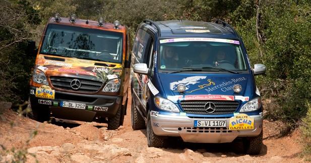 Mercedes engagera 2 équipages au Rallye Aïcha des Gazelles