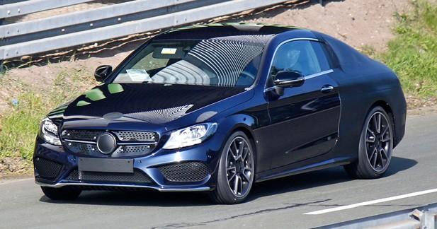 Spyshots: La Mercedes Classe C Coupé à visage découvert!