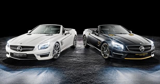 Mercedes SL63 AMG ''World Championship 2014 Collector's Edition'': deux séries limitées en hommage à deux champions