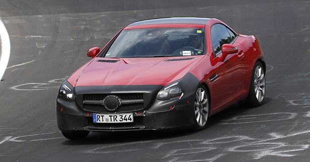 Spyshots : la Mercedes SLC est quasiment prête