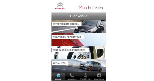 Citroën lance une application pour l'entretien sur iPhone
