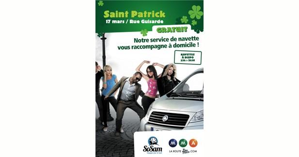 Des navettes gratuites pour la fête de la Saint-Patrick à Paris
