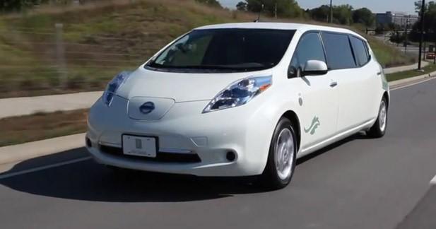 Insolite : une Nissan Leaf limousine