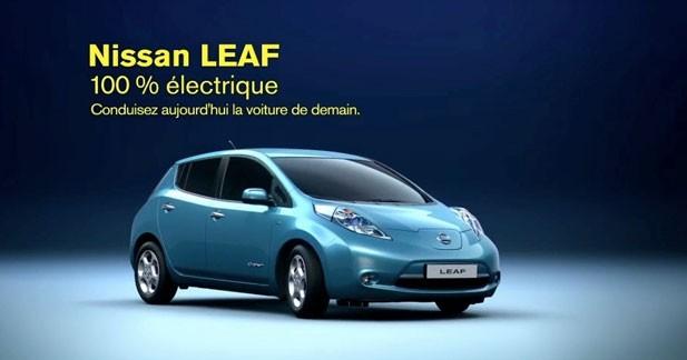 Une campagne pub couplée au smartphone pour la Nissan Leaf