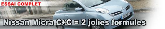 Nissan Micra C+C = 2 jolies formules