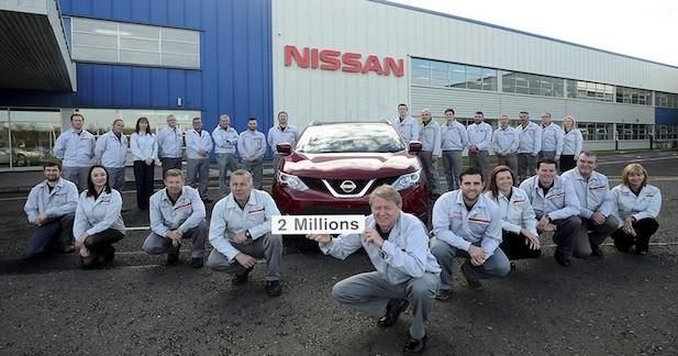 Deux millions de Qashqai produits à Sunderland