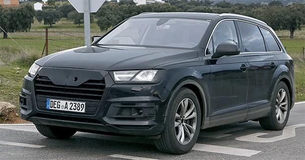 Spyshot : le nouvel Audi Q7 presque surpris à nu !