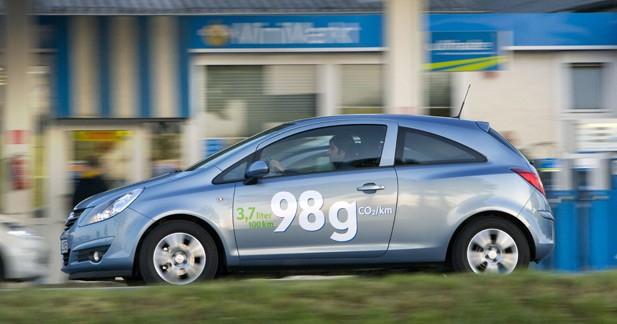 L'Opel Corsa ecoFLEX descend à 98 g/km de CO2