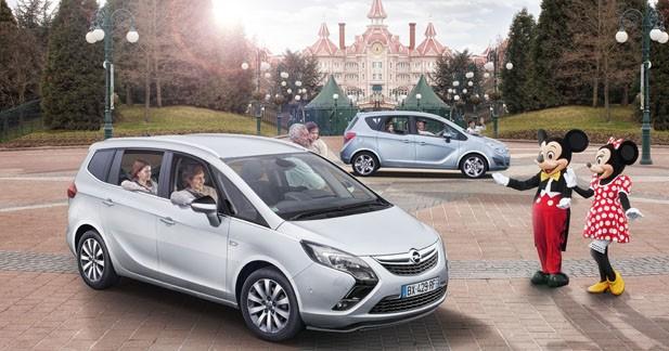 Opel Meriva & Zafira : série spéciale Disneyland Paris