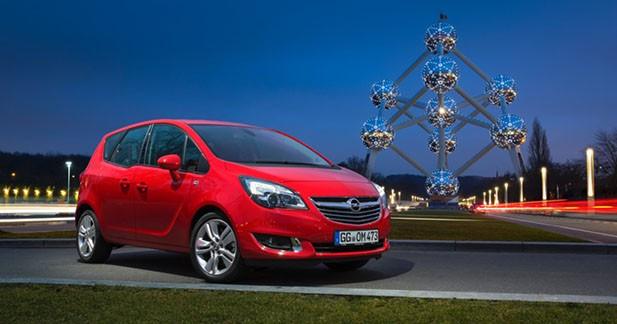 Opel Meriva 2 restylé : le premier sous les 100 g/km de CO2