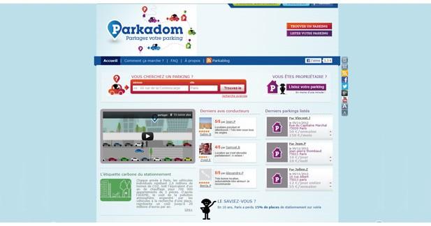 Parkadom : une plateforme de partage de parkings géolocalisés