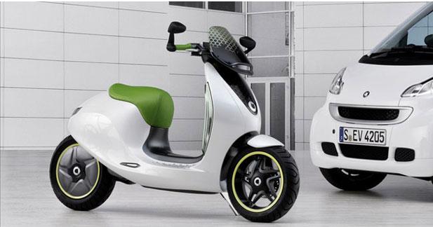 le scooter lectrique de smart sera d velopp avec vectrix. Black Bedroom Furniture Sets. Home Design Ideas