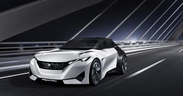 Peugeot Fractal: un coupé-cabriolet électrique et survolté