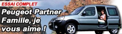 Peugeot Partner : famille, je vous aime !
