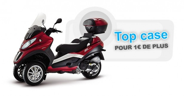 piaggio mp3 touring 400 lt le top case pour 1 euros. Black Bedroom Furniture Sets. Home Design Ideas