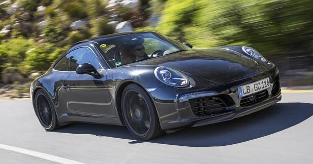 Porsche 911 restylée: des photos officielles presque sans camouflage