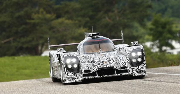 Première sortie du proto Porsche en vue des 24 Heures du Mans de 2014