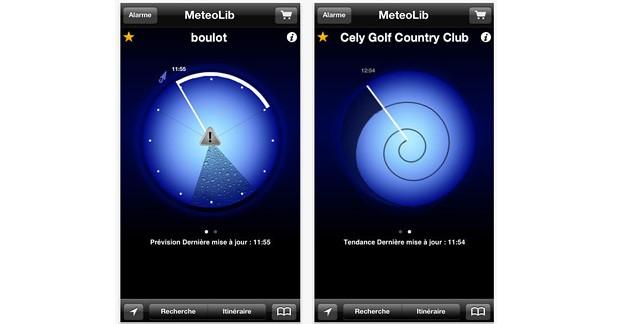 Météolib : une application iPhone et Android pour prévoir la pluie