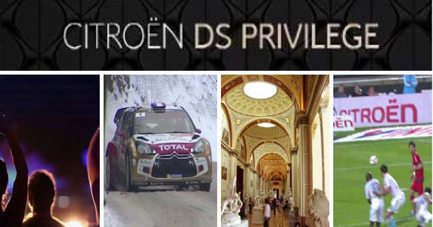 Le club DS Privilège de Citroën fait son cinéma