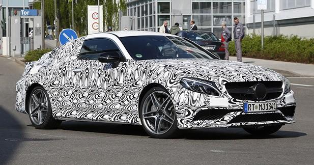 Spyshots : voici la Mercedes Classe C63 AMG Coupé