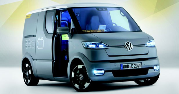 volkswagen et concept l 39 utilitaire lectrique selon vw. Black Bedroom Furniture Sets. Home Design Ideas