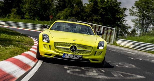 La Mercedes SLS électrique établit le record du Nürburgring