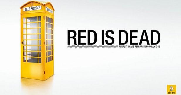Red is Dead : quand Renault se moque de Ferrari