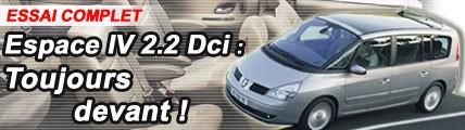 Renault Espace IV 2,2l Dci : toujours devant