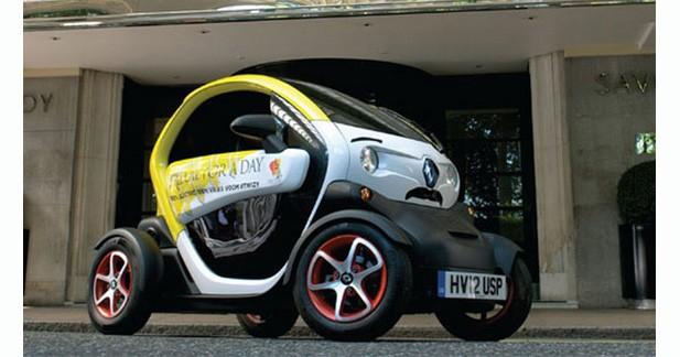 Une Renault Twizy Freddy Mercury Edition