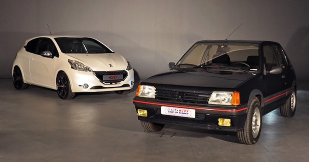 Les 205 et 208 GTI face à face