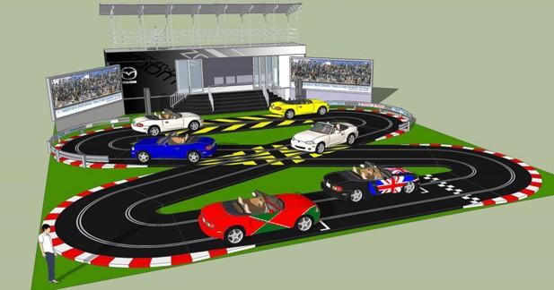 Mazda présentera à Goodwood un circuit Scalextric à échelle 1 !