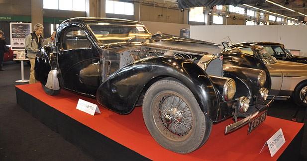 Rétromobile 2009 : la Bugatti oubliée dans un garage