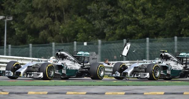 Premières réactions de Mercedes après l'accrochage