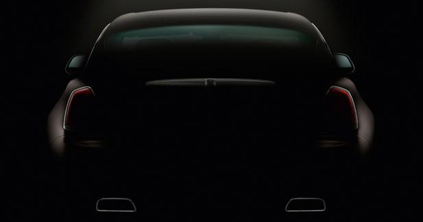 Rolls-Royce montre l'arrière de la Wraith