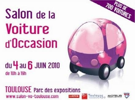 Salon de la voiture d 39 occasion du 4 au 6 juin toulouse for Salon voiture occasion toulouse