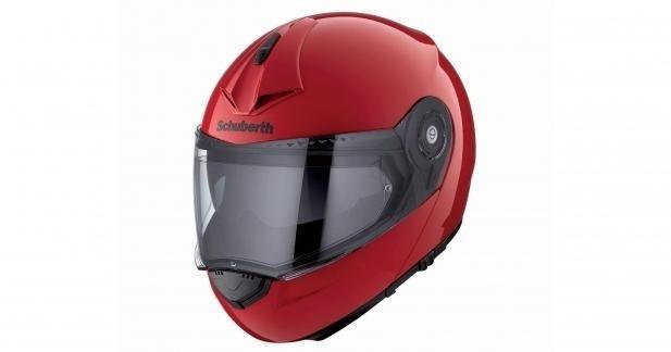Schuberth C3 Pro : nouveau coloris rouge et déco Spike