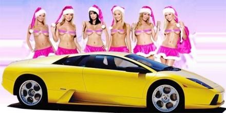 Scoop : la Mère Noël et ses copines roulent en lambo !