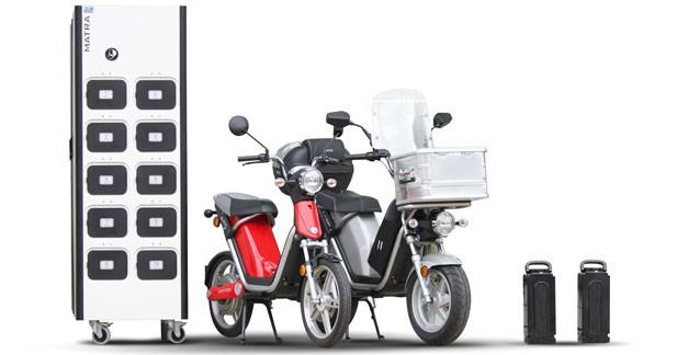 Une station d'échange de batteries pour scooters