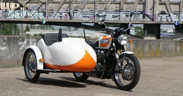 Sidecar Triumph et Guzzi by Heritage Import