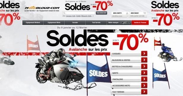 Soldes chez Motoblouz - les grandes marques pour s'équiper bien pour moins cher !