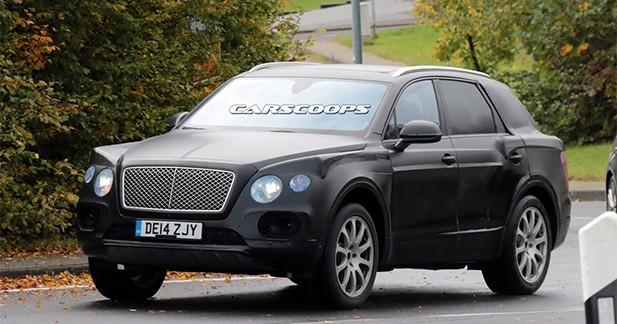 Photos volées : le futur SUV Bentley pris en flag