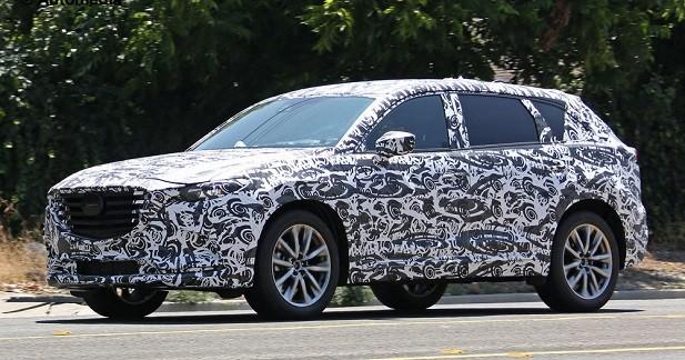 Le futur Mazda CX-9 surpris dans le trafic