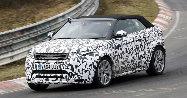 Le Range Rover Evoque Cabriolet de sortie sur le Nürburgring