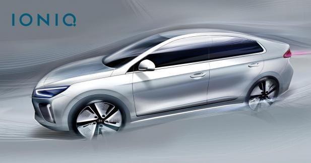 La Hyundai Ioniq se dévoile un peu plus