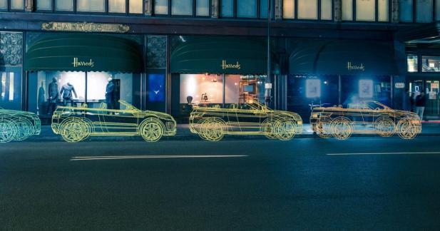 Le Range Rover Evoque Cabriolet investit les rues de Londres