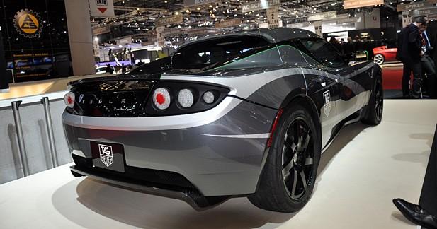 Tesla Roadster Tag Heuer : à la bonne heure
