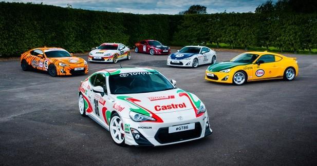 Toyota dévoile six GT86 vintages
