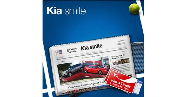 Kia lance un concours Facebook et vous invite à l'open d'Australie