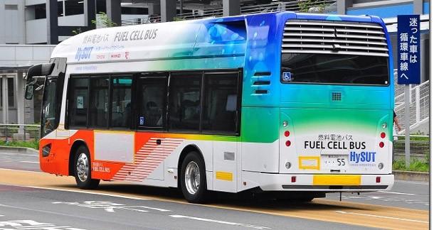 Toyota met en service un bus hybride et à l'hydrogène à l'aéroport de Tokyo